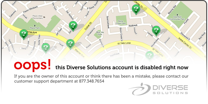 oops! this Diverse Solutions account is disabled right now